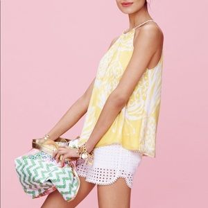 Lilly Pulitzer for Target yellow & white tank